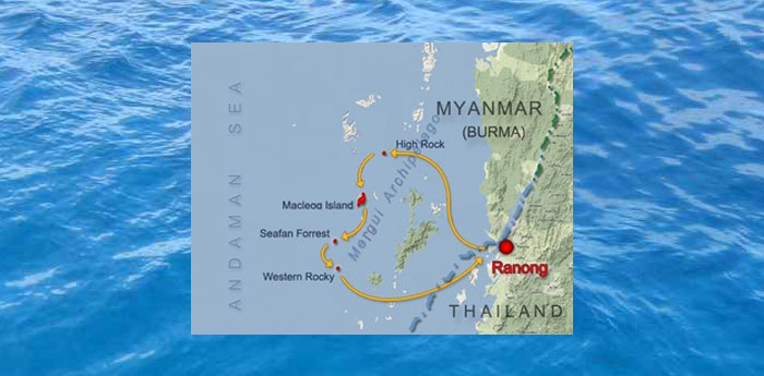 Dive itinerary - Route